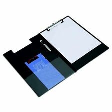 Rapesco Premium Foldover Clipboard A4 / Foolscap - Black - Pen / Document Wallet