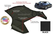 Ford Mustang Convertible Soft Top (Top Section Only) BLACK Sailcloth 1994-2004