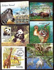 TOUS PAYS 6 blocs : Les animaux sauvages   C215