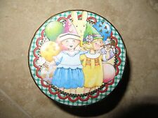 "Mary Engelbreit Cardboard Happy Birthday Gift Box  2 1/2"" Diameter Mint"