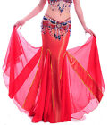 New Sexy Belly Dance Costume Performance Long Fishtail Skirt Dress 10 colours
