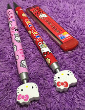 2x 3D Hello Kitty Mechanical Pencil Cute Cat Free Refill Value Gift Doll Great