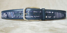 NEW BRIONI GURTEL BELT CINTURA PATCHWORK SILK FULLY CALF 34 GENUINE