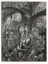 Piranesi Etching Carceri Series Man on the Rack 1749 Italian Framed Original