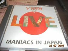 VIPER (ANGRA) LIVE MANIACS IN JAPAN CD ORIGNAL. LIVE ´93 MASSCRE RECORDS 1994