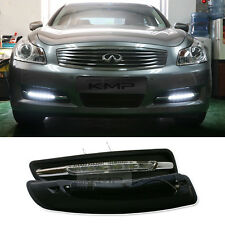 LED Fog Daytime Light DRL + Covers Black [L+R SET] For INFINITI 06 07 08 G35