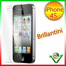 Pellicola protettiva display brillantini per Apple iPhone 4 4s Glitter brillante