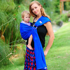 Baby Sling Ring Carrier Wrap Pouch Infant Toddler WALKABOUT Cotton Blue New