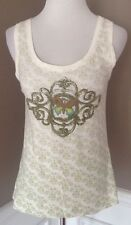 CAbi M Embroidered/ Beaded Butterfly Print Sleeveless Tank Top Style# 533