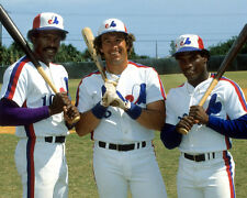 Andre Dawson, Gary Carter, & Tim Raines - Montreal Expos, 8x10 Color Photo