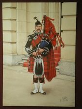 POSTCARD THE SCOTS GUARDS - PIPE MAJOR LONDON 1897