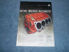 "2007 Mopar Performance 426 Hemi Engine Block Ad ""Hemi, Wedge Refined!"""
