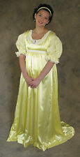 Light Yellow Regency Jane Austen Style 2 Piece Ball Gown Costume 2X Cosplay