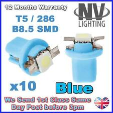 10X T5 B8.5D Car Gauge 5050 1SMD LED Speedo Dashboard Dash Light Bulb 12V  BLUE
