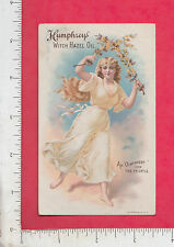8959 Humphrey's Witch Hazel Oil liniment trade card Miller Pharmacy, Topeka, KA