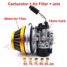 Racing Carburetor Filter Carb Jets 50cc 60cc 80cc 2 stroke Gas Motorized Bicycle