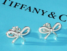 Tiffany & Co Sterling Silver BOW Earrings