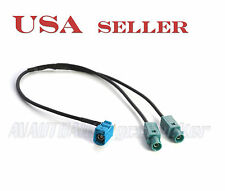 VW AUDI Dual-Male Fakra Y-Splitter to Female Fakra Antenna Adapter 53A