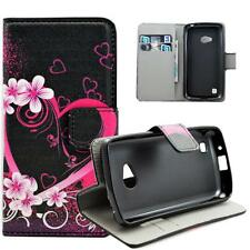Lovely Leather Wallet Stand Flip Phone Rubber Case Cover For LG L50 Sporty D213N