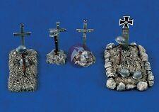 Verlinden 1/35 German Soldier War Graves WWII (4 different types of Graves) 1316