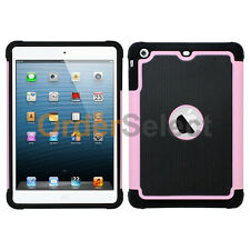 Hybrid Rugged Rubber Matte Hard Case Cover Skin for Apple iPad mini Pink