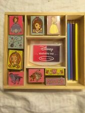 Disney Sofia Princess Wooden Stamp Art Pencils Set Melissa & Doug Wooden Tray