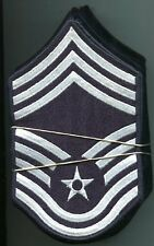 Dealer lot 10 pairs US Air Force CHIEF Master Sergeant Blue Arm Patchs Stripes