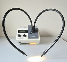 Schott Light Source KL 1500 LCD Dual Gooseneck Guide for Nikon Leica Microscope.
