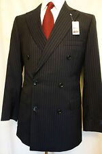 NWT Brooks Brothers 1818 Regent Navy Blue Double Breasted Suit 40R MSRP $1098