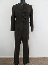 ISABELLA Women's Dark/Faded Brown2-Piece Pant Suit-Size 14W