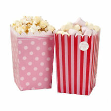 8 x Pink Wedding Party Favour Sweet Popcorn Candy Bar Holders in 2 Designs