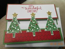 Stampin Up Card Handmade Christmas Happy Wonderful Christmas Trees - KIT