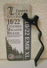 Timber Creek Ruger 10/22 Extra Long Black Magazine Release + FREE STICKER .