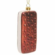 Ice Cream Sandwich Holiday Christmas Tree Hanging Glass Ornament - Cute Fun