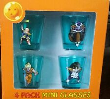 NEW DBZ DRAGONBALL Z Shot Glasses (Set of 4) DRAGON BALL Z Shot Glass