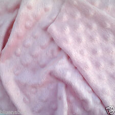 PER METRE/ FAT QUARTER soft minky dimple fleece white black pink blue mint lemon