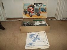 Vintage 1970's AMT California Hauler 359 Peterbilt Open Box/Partially Assembled