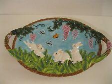 Beautiful Christopher Radko Fern Meadow Platter Easter Rabbit L@@K!! NIOB