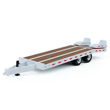 First Gear white tandem axle beaver tail trailer new no box