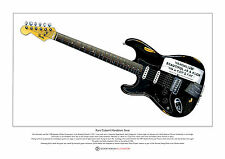 Kurt Cobain's Vandalism Stratocaster Limited Edition Fine Art Print A3 size