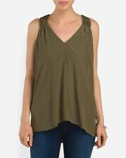 "Ramy Brook - XS - NWT $295 - Military Green ""Polly"" Racerback Tunic Tank Top"