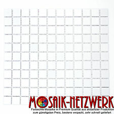 Mosaik Keramik Küche Dusche Wand Boden Quadrat weiß matt Art: 18-0111_f   1 qm