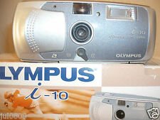 NEW OLYMPUS i-10 APS FILM CAMERA~24MM LENS~3 PRINT TYPES~FLASH OPTIONS (40JY12)