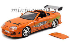 JADA 97168 THE FAST AND FURIOUS BRIAN'S TOYOTA SUPRA 1/24 DIECAST CAR ORANGE