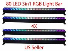 LOT DJ 80 3in1 RGB LED LIGHT WALL WASH BAR 120watt DMX512 STAGE PARTY SHOW 4 PCS