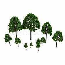 11 Pack O Scale 1:50 Assorted Trees Model Train Scenery Layout Diorama Hobby Toy