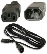 Lot100 12ft Male~Female AC Power Extension Cord/Cable/Wire IEC320 C13~C14 $SHdis