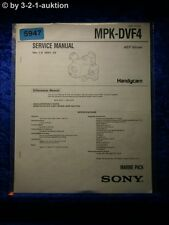 Sony Service Manual MPK DVF4 Marine Pack (#5947)