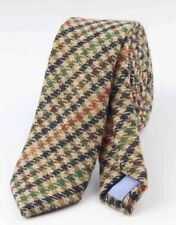 New Country Brown/ Stone Skinny Tweed Wool Tie. Excellent Quality & Reviews. Uk