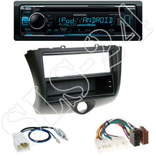 Kenwood KDC300UV CD/USB Radio + Toyota Yaris 03/03-05 Blende black + ISO Adapter